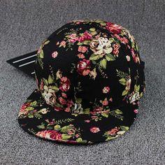 ab5d25d530b Hip Hop Cap Floral Casquette Snap Back Fashion Baseball Cap Gorras Gorras
