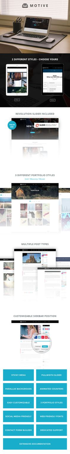 Motive – Creative Portfolio WordPress Theme