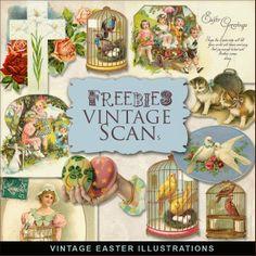 Scrapbooking TammyTags -- TT - Designer - Far Far Hill,  TT - Item - Element, TT - Theme - Vintage, TT - Theme - Spring or Easter
