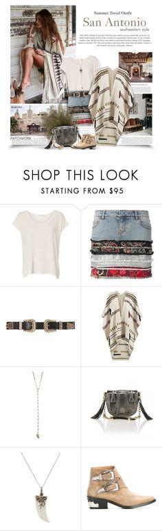 """San Antonio Summer Travel Outfit"" by thewondersoffashion ❤ liked on Polyvore featuring rag & bone, Faith Connexion, B-Low the Belt, Tory Burch, Tai, Okapi, Bavna, Toga and Rachel Entwistle"