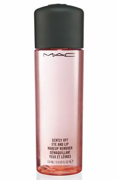 M·A·C Gently Off Eye & Lip Makeup Remover. I use this for my eyes and lips every day even when I don't wear makeup because I always wear some type of moisturizer. It is gentle, does the job well, and hydrating.