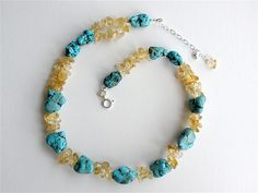 #Turquoise and Citrine Necklace   #citrine #necklace  Repin, Like, Share!  Thanks!