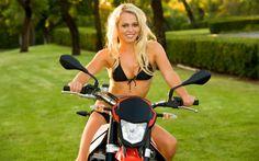 Sexy Biker on Aprilia