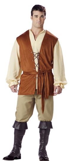 Rule the Renaissance faire in our regal medieval and Renaissance costumes! We have a wide array of high-quality medieval costumes for knights, queens, wizards, and much more, all at the best prices. Mens Renaissance Clothing, Men's Renaissance Costume, Renaissance Mode, Medieval Costume, Renaissance Fashion, Medieval Clothing, Steampunk Clothing, Moda Medieval, Medieval Peasant