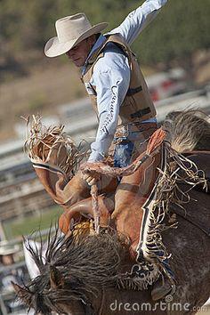 Cowboy San Dimas Rodeo Saddle Bronc