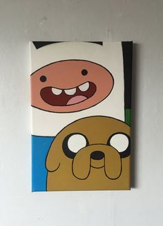 Adventure Time – My pop culture art – – leinwandkunst Simple Canvas Paintings, Small Canvas Art, Easy Canvas Painting, Mini Canvas Art, Cute Paintings, Cartoon Painting, Cartoon Art, Painting & Drawing, Art Drawings Sketches