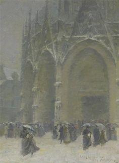 Léon-Jules Lemaître L'Église Saint-Maclou, jour de Noël 1890