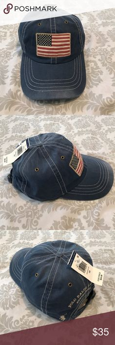 Polo Ralph Lauren Unisex Authentic USA flag hat. Polo Ralph Lauren Unisex  Authentic USA flag 6cb87a625b97