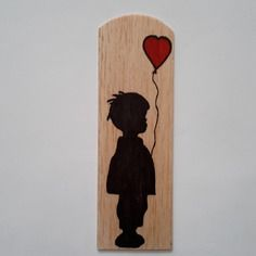 Sandrine on Etsy Pyrography, Wood Burning, Bookmarks, Christmas Ideas, Etsy, Marque Page, Red Balloon, Marquetry, Woodwind Instrument