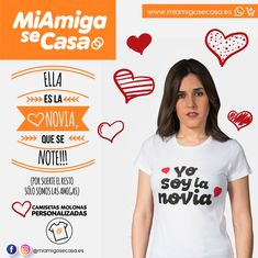 Camiseta de despedida de soltera modelo para la novia T Shirt, Women, Models, Bachelor Parties, Boyfriends, Tee Shirt, T Shirts, Tee, Woman