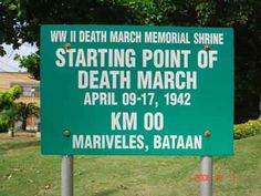 Bataan Death March, Philippines