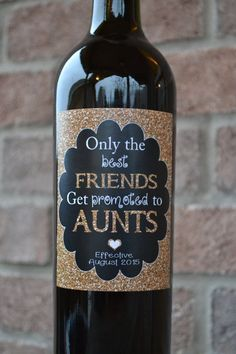 Pregnancy Announcement Baby Announcement Wine by MerlotMomma