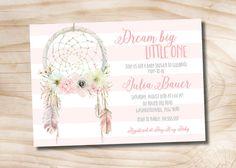 Dreamcatcher Baby Shower Invitation boho Baby by PaperHeartCompany