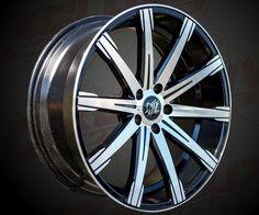 """Modèle : Revolve / Style Tuning / Taille : 20x8.5"""", 20x10"""" / Entraxes : 5x108, 5x112, 5x120 / Déports : 20, 25, 30, 35 ou 40 / Finition : Noir surfacé. / Compatible pour : Audi, VW, BMW, Mercedes ..."""