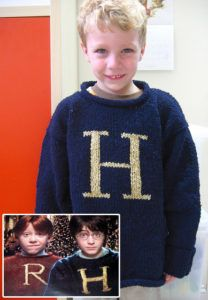 Free Knitting Pattern for Weasley Christmas Sweater