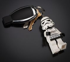 LEGO Star Wars Stormtrooper Key Light - Press the button on his chest to turn on the lights in his feet and the galaxy is yours!