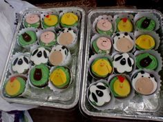 my baby's 1st birthday farm cupcakes
