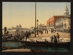 COLOUR PHOTOCROMS OF VENICE, 1890S by various