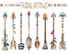 Tribal flechas imágenes prediseñadas conjunto por KennaSatoDesigns