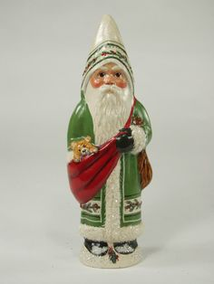 Green Father Christmas from Vaillancourt Folk Art