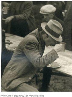 White Angel Breadline, San Francisco, 1933, by Dorothea Lange