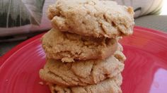 My Dad is diabetic, but loves peanut butter cookies. I was playing around with some recipes to make a sugar-free version. This is what I came up with.