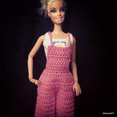 jardineira para barbie de croche  - LiiArt