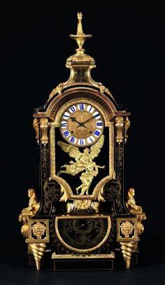 PENDULE BAROMÈTRE D'éPOQUE LOUIS XIV D'après un dessin d'André-Charles BOULLE (1642-1732) Mouvement de Nicolas GRIBELIN (1637-1718) Reçu Maître Horloger en 1675 Paris, vers 1700