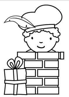 kleurplaat zwarte piet in schoorsteen werkblad van maken en verschillende schoorstenen en verschillende pieten: welke past in welke schoorsteen (klein bij klein ...) Diy For Kids, Crafts For Kids, Puppet Patterns, Digi Stamps, Creative Kids, Kids Playing, Coloring Pages, Colouring, Hello Kitty