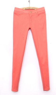 candy color pants casual pants 9198 Watermelon Red