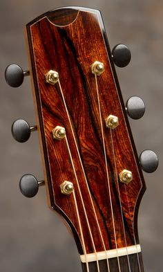 Beautiful headstock - 2010 Bashkin Placencia built by Michael Bashkin Guitars USA - 1 of 2
