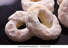 Sweet white Taralli from Southern Italy