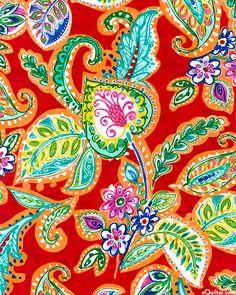 eQuilter Bazaar - Fiesta Paisley Garden - Red
