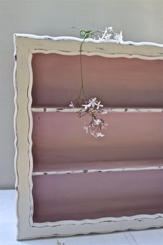 Vintage Shelf / Hand Painted Display / Chalk Paint®Antoinette and old white