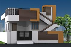 New Diy House Plans Front Elevation 33 Ideas House Front Wall Design, House Outer Design, Single Floor House Design, Village House Design, Bungalow House Design, Small House Design, Home Design, Design Ideas, Front Elevation Designs