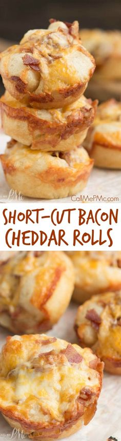 These Short-cut Bacon and Cheese Rolls are hearty, satisfying, and full of flavorful bacon and cheddar cheese. The best part is they start with a pre-made bread which cuts down on the prep time.