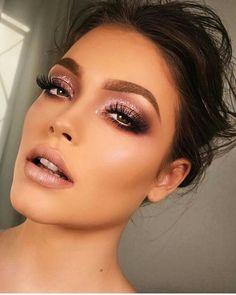 JASON Quick Clean Makeup Remover Party makeup with a glitter smokey eye, makeup inspiration Makeup Inspo, Makeup Inspiration, Makeup Goals, Maquillage On Fleek, Sexy Make-up, Party Make-up, Make Up Party, Party Hair, Glam Look