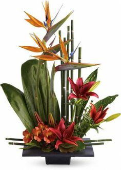looking for jungle inspired floral centerpieces