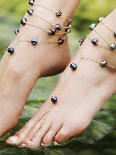 Free People Ariel Pearl Anklet, $358.00