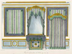 Plate number: L. 57 Pl. 161 Type: Floor Plans  : Interior Elevations  Style: Louis XVI  Enlarge Image