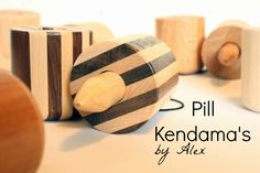 Check out these handmade Pill Kendamas that Alex made (with some help from his dad)!