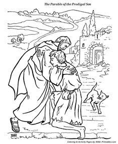 de verloren zoon verloren zoon bijbel kleurplaten en