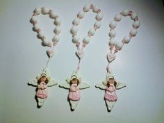 7.5 Rosary with angel 7.5 prayer beads with by CreacionesDeElena