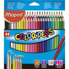 Lápis de Cor 48 cores triangular Color Peps 832048 Maped - Escrita & Corretivos - Kalunga.com