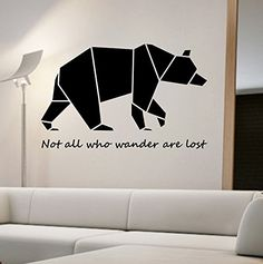 Bear Origami Wall Decal Vinyl Art Home Decor Now All Who Wander Are Lost State Of The Wall