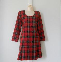 Punk Rock Dress 80s Punk Dresses Punk Dress Red by TheVilleVintage, $27.99