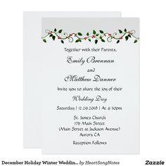 December Holiday Winter Wedding Casual Invitation