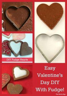 DIY Fudge Hearts to make for Valentine's Day! Perfect for the Fantasy Fudge recipe we all love!