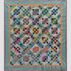 Sixteen-Patch Variation Quilt Artist unidentified