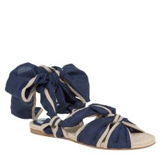 FLAT ESPADRILLE SANDALS-8.5-NAVY from Max Studio on shop.CatalogSpree.com, your personal digital mall.